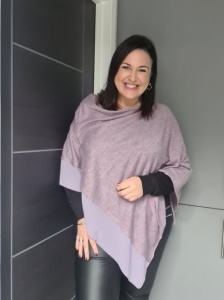 Lightweight Poncho - Purple